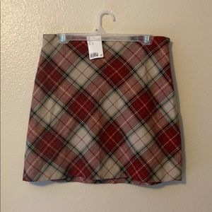Dresses & Skirts - new with tags red and cream plaid skirt